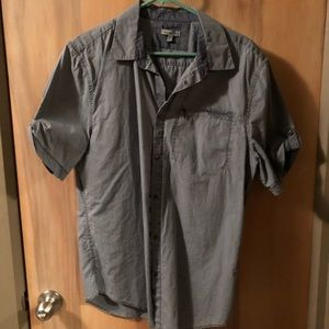 Calvin Klein Shirts - Calvin Klein Gray Snap Button Shirt Sz L
